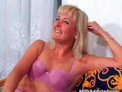 Sweet blonde in pink l... video
