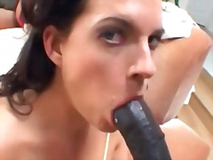 Big black cock is destroying this poor