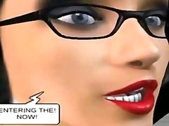 Two sexy 3d cartoon ho...