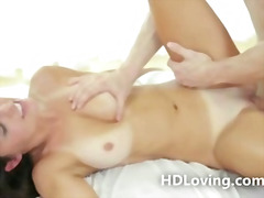 Stunning babe rides co... video