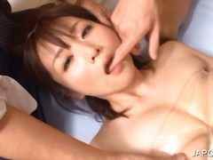 Asian maiden gets twat licked in 3some