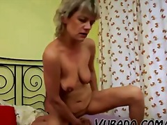 Milf gets fucked in bedroom by him