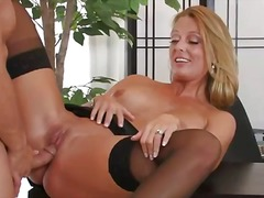 His cock unloads all over her face