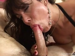 Tranny milf swallows h... video