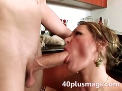 housewife, blonde, milf, mature, wife, blowjob