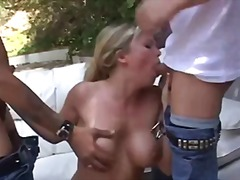 hardcore, british, threesome, blonde, anal