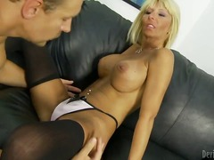 Passionate blonde milf kasey storm stays