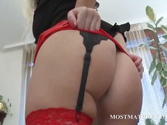 Nuvid - Mommy in sexy outfit strips erotically