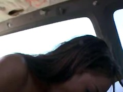 DrTuber Movie:Blowjob scene in the bus with ...