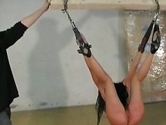 Tit spanking s and m rope action inte...