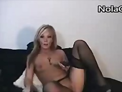 Erotic blonde wife mas...