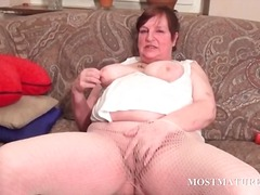 masturbation, redhead, bbw, milf, older, mom, hardcore, granny, mature, outdoors, toys