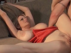 This mother with huge boobs sucks part5