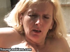 Blonde mature woman ge... video