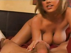 couple, tits, shot, blonde, oral, toys