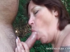 masturbation, outdoor, mature,