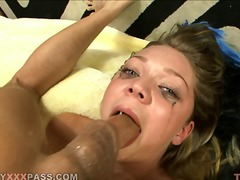 Huged black cock in mouth