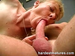 housewife, older, mature, blowjob, blonde, granny, wife, milf
