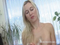 masturbation, sex toy, blonde, milf,