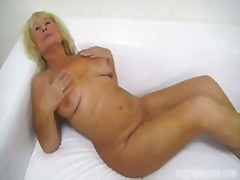 granny, blonde, amateur, blowjob
