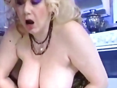 blonde, titjob, big cock, piercing
