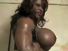 Tube8 Movie:Yvette bova flexes and strips