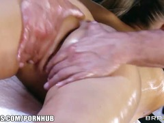 Abbey brooks gets oile... video