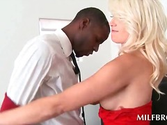 cock, milf, blonde, interracial,