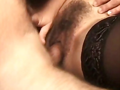 Hairy slut with mask s... video