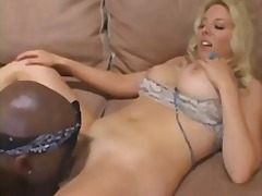 homemade, wife, busty, amateur, milf, blonde, lingerie, interracial