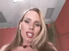 blonde, titjob, big boobs,