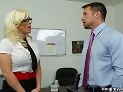 Busty blonde secretary...