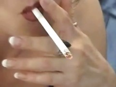 See: Brunette slut smokes a...