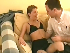 A petite mature british housewife tak...