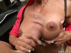 office, couple, brunette, big, cock, milf