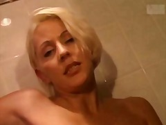 See: Busty blonde and two g...
