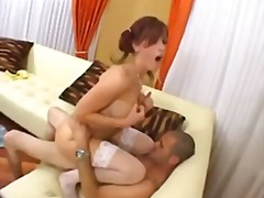 cumshot, pigtails, shaved, ass, hardcore, doggystyle, deepthroat, riding, redhead, blowjob, pornstar,