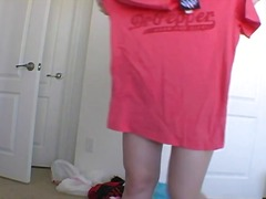 Alpha Porno Movie:Teen tries on clothes and ling...