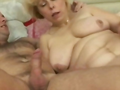 Chubby blonde mature  video