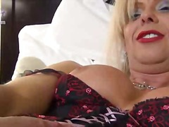 Mature blonde ts fondled