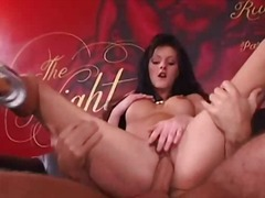 anal, hairy, brunette, threesome