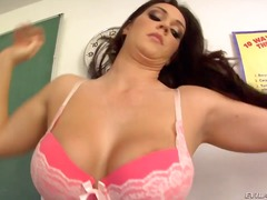 The luscious brunette ... video