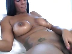 big, cock, shemale, solo, boobs