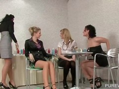 Wam hot scene with dirty clothed lesbos