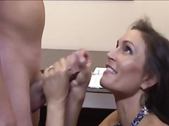 Thumb: Hot mom stroking the w...