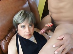 Horny mature cd drilled video
