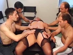 Amateur gang bang...