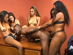 bdsm, gangbang, black, strapon