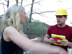 Hot blonde lilly banks makes her big ass bounce as she rides dick