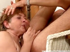 Horny mature lets him use ... - 05:51